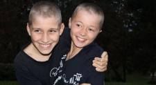 Finn and Will shaved their heads to fight cancer